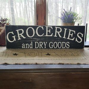 """BRAND NEW Handmade """"Grocery and Dry Goods""""…"""